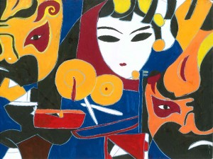 Peking Opera by Li, age 13.