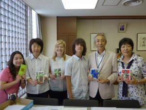 CR and teachers at Kosei Gakuen with Asst prin