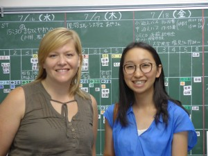 Christi with Chihiro at the Collaborative School