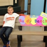 Christian on his Buddy Bench