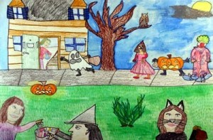 Halloween Night by Muriel, Age 13 from the USA