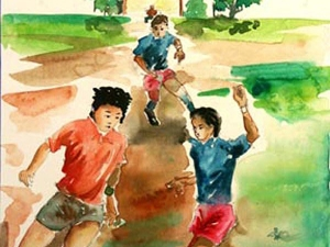 Playing Football With My Friends