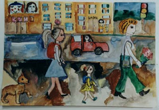 """We Are Going to School"" by Dasha, age 10 from Russia"