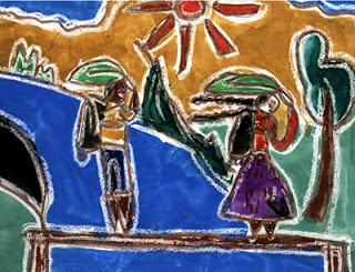 """School Life"" by M.P., age 7 from Sri Lanka"