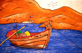 """A Lovely Boat""  by Gianni, age 18 from Chile"