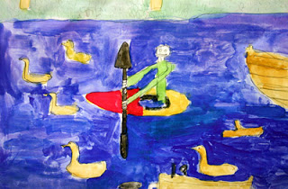 """Me Kayaking"" by Luke, age 11 from England"
