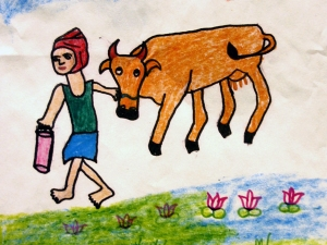 Going To Milk The Cow