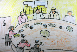 """Iftar During Ramadan"" by Abdullah, age 13 from Jordan"