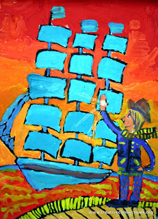 """Regatta Opening Day"" by Osvalds, age 11 from Latvia"