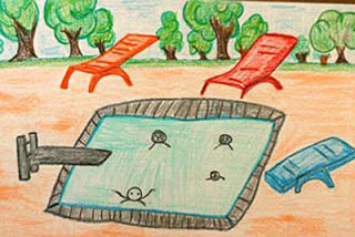 """Swimming"" by Mohammad, age 11 from Saudi Arabia"