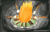 """Marshmallows Around the Fire"" by Lianna, age 14 from USA"