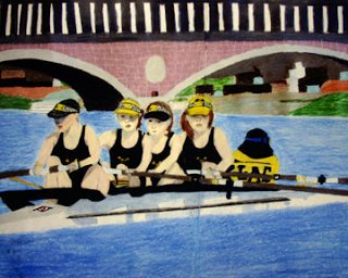"""Head of the Charles in a Kayak"" by Alex, age 16 from CA, USA"