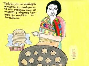 A Woman Making Tortillas