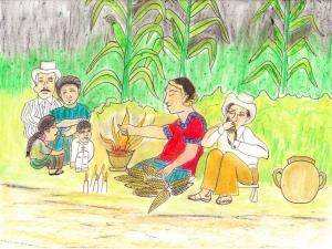 Mayan Corn Ceremony – Ceremonia de maíz Maya