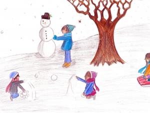 Playful Snowy Winter