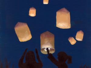 Lanterns At The Beach